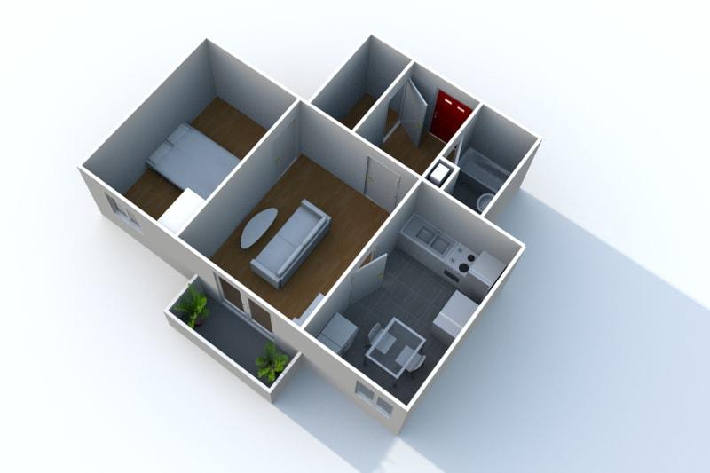 Appartement T2 en location à Auffay, proche du centre-ville - Image 3
