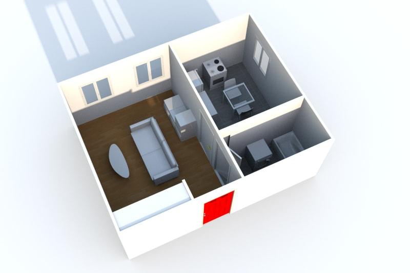 Appartement studio à louer à Auffay, à 2 min. du centre-ville - Image 4