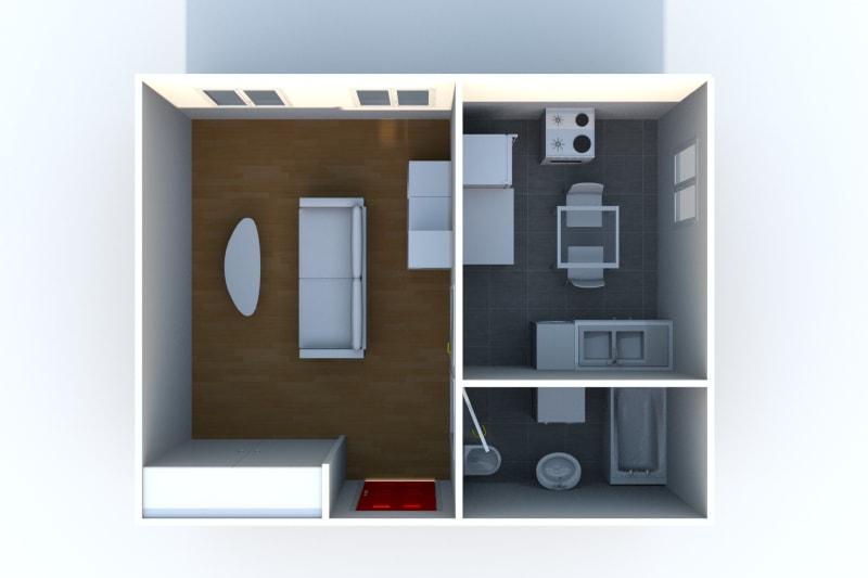 Appartement studio à louer à Auffay, à 2 min. du centre-ville - Image 5