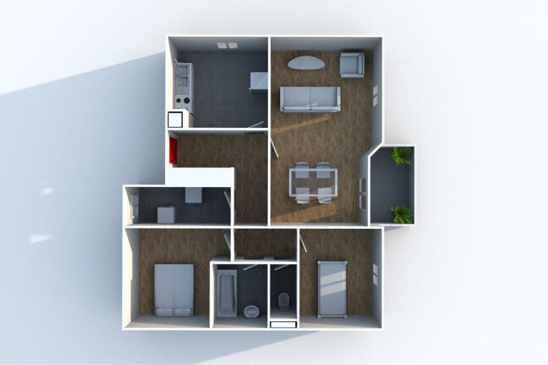 Appartement T3 en location dans un quartier résidentiel à Blangy-Sur-Bresle - Image 4