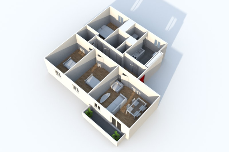 Appartement F4 à louer à Cany-Barville - Image 4