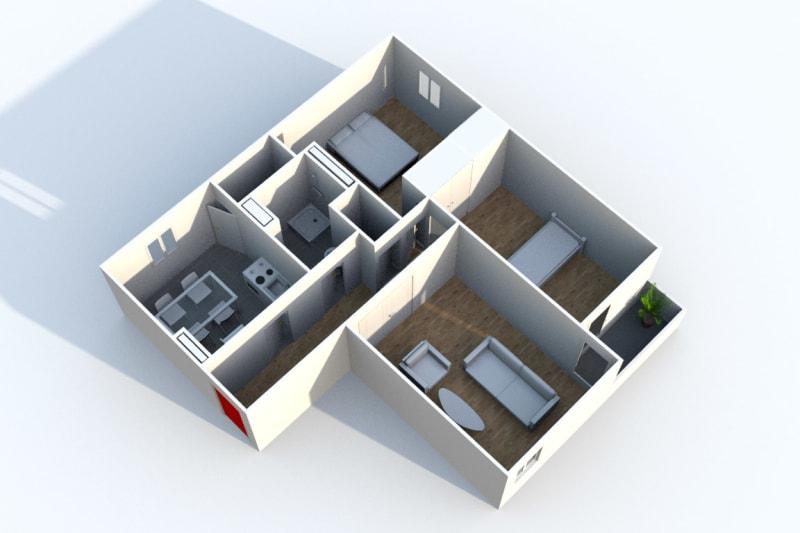 Appartement F3 à louer à Déville-lès-Rouen - Image 6