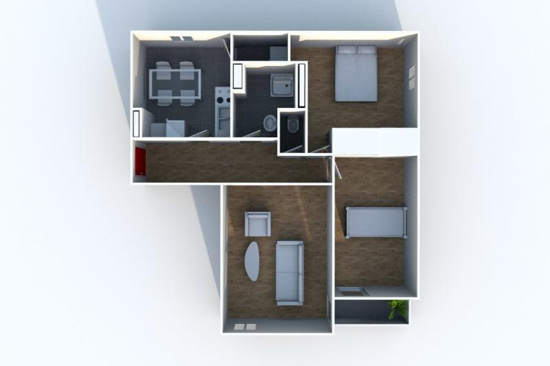 Appartement F3 à louer à Déville-lès-Rouen - Image 7
