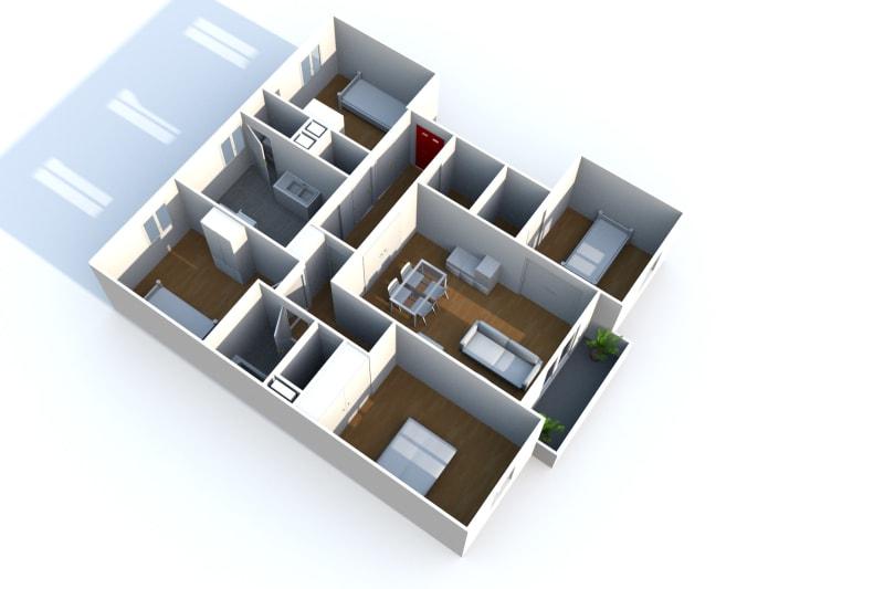 Appartement F3 en location à Elbeuf dans un cadre verdoyant - Image 5