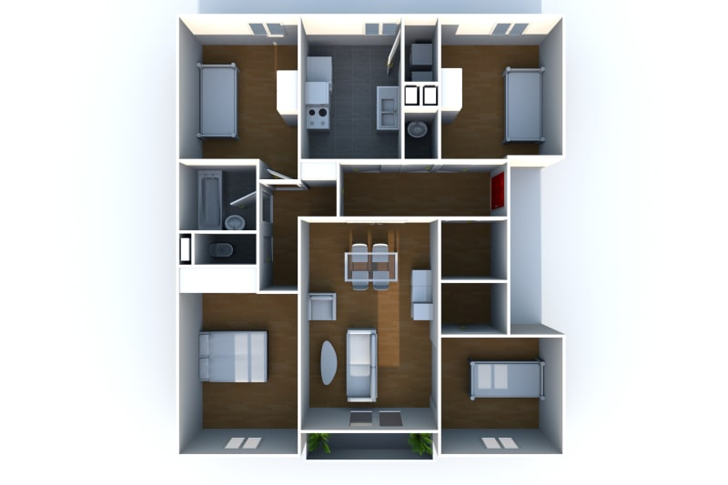 Appartement F3 en location à Elbeuf dans un cadre verdoyant - Image 6