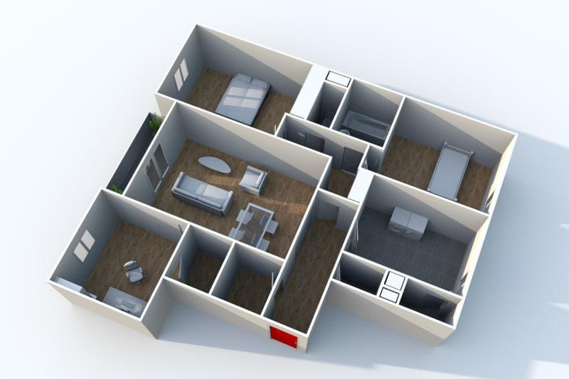 Appartement F4 en location à Elbeuf dans un cadre verdoyant - Image 5
