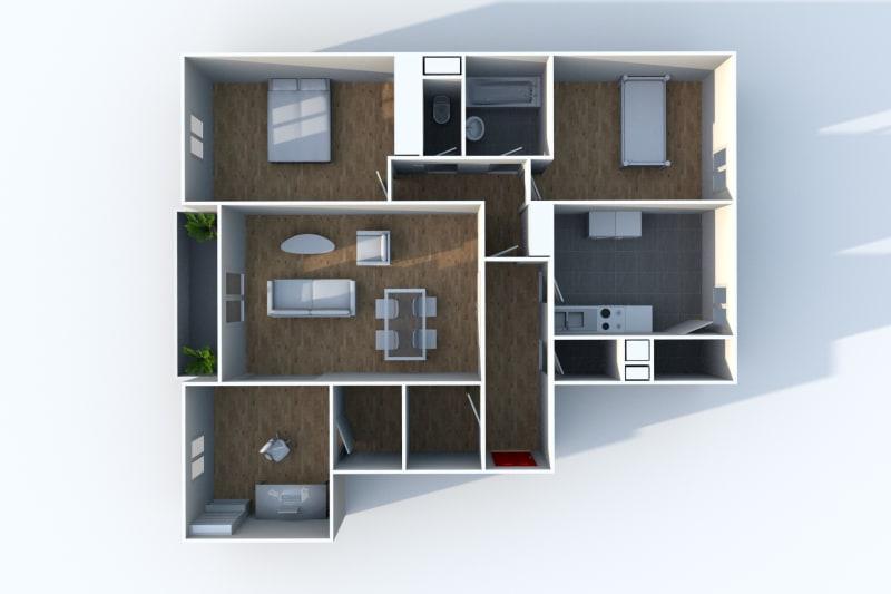 Appartement F4 en location à Elbeuf dans un cadre verdoyant - Image 6