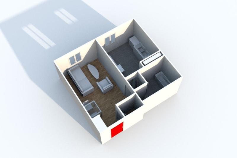 Appartement studio en location à Gonfreville l'Orcher - Image 3