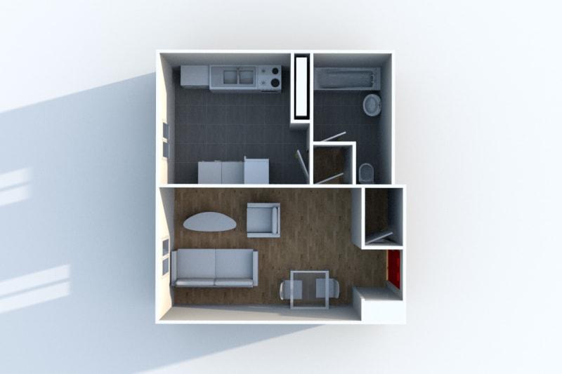 Appartement studio en location à Gonfreville l'Orcher - Image 4