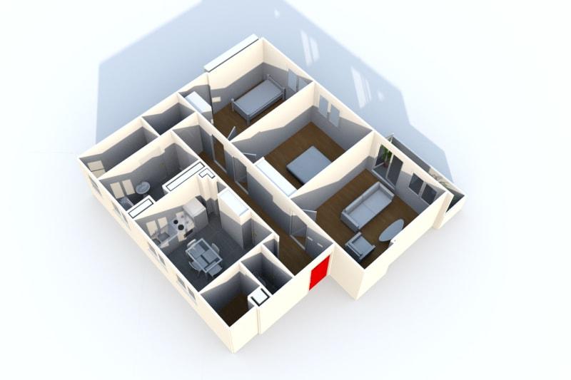 Appartement F3 en location dans une résidence verdoyante au Havre - Image 3