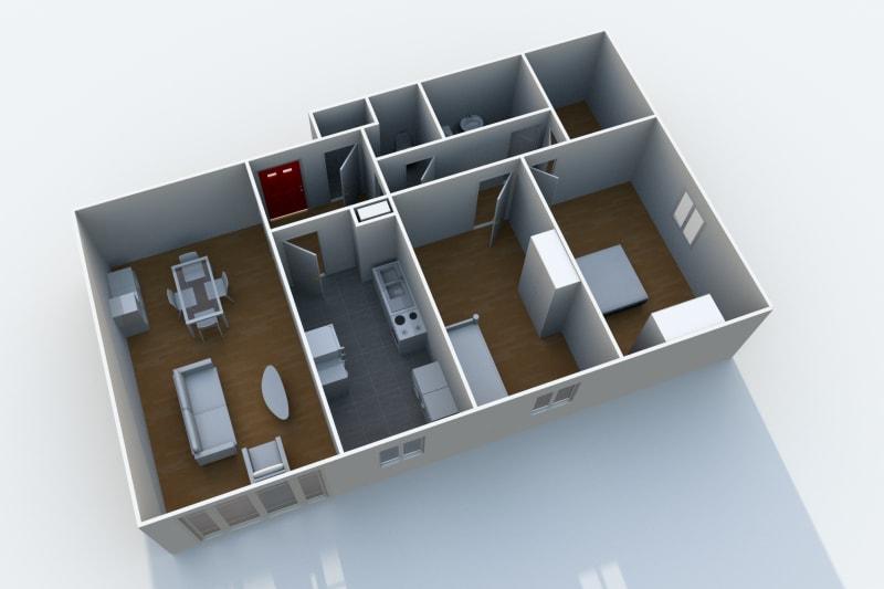 Appartement F3 à louer au Havre, à proximité de la forêt de Montgeon - Image 5