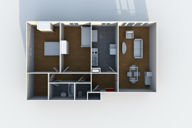 Appartement F3 à louer au Havre, à proximité de la forêt de Montgeon - Image 6