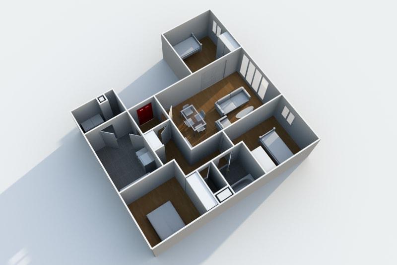Appartement F4 en location au Havre au sein du quartier de Caucriauville - Image 5