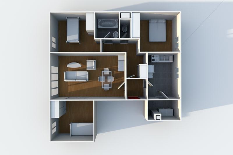 Appartement F4 en location au Havre au sein du quartier de Caucriauville - Image 6