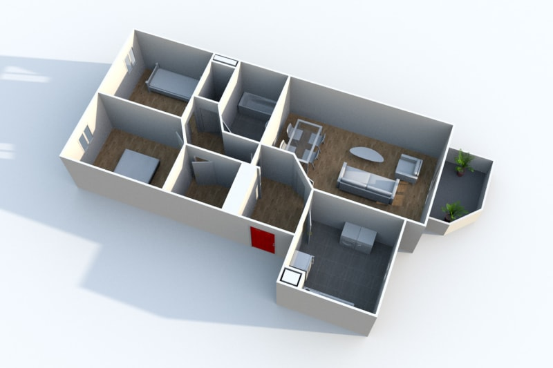 Appartement F3 à louer au Houlme - Image 5