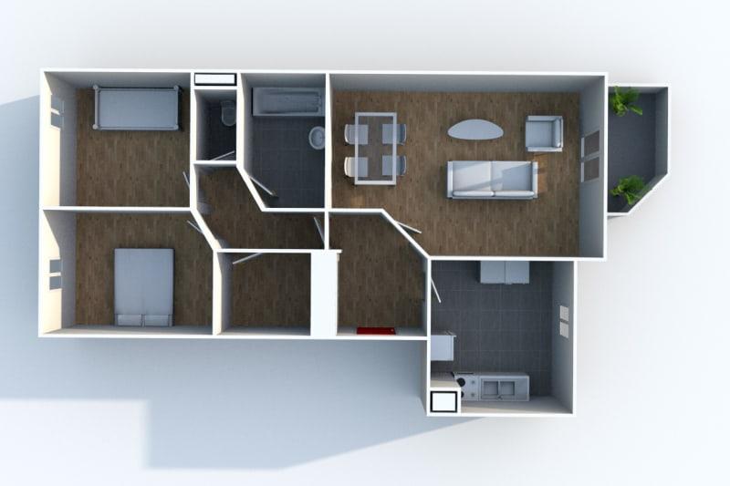 Appartement F3 à louer au Houlme - Image 6