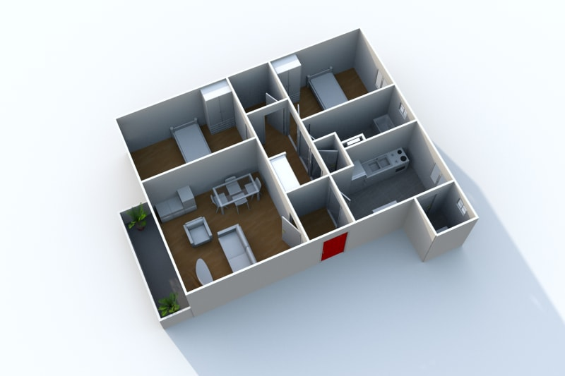 Appartement à louer F3 à Arelaune en Seine - Image 5
